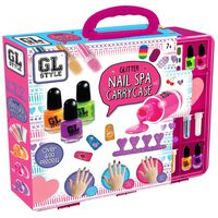 GL Style Glitter Nail Spa Carry Case