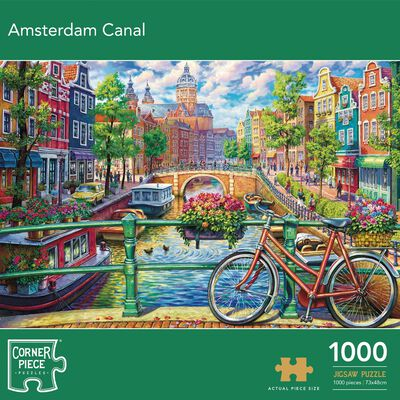 Amsterdam Canal 1000 Piece Jigsaw Puzzle image number 1