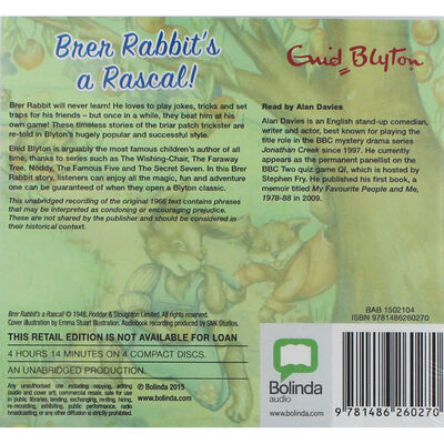 Brer Rabbits a Rascal - MP3 CD image number 2