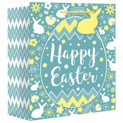 Easter Egg Large Gusset Gift Bag Bundle of 10 image number 1