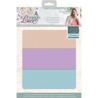 CC Vintage Lace A4 Luxury Linen Card - 24 Sheets