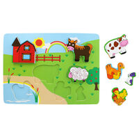 Farmyard Chunky Wooden Puzzle