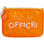 Neon Orange Transparent Travel Pouch image number 1