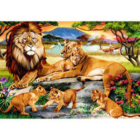 Lion Family 500 Piece Jigsaw Puzzle
