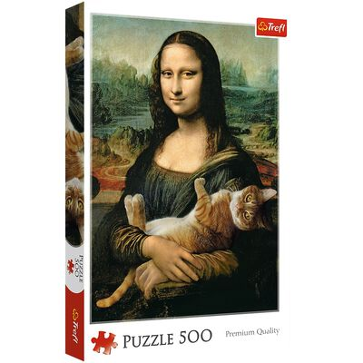 Mona Lisa 500 Piece Jigsaw Puzzle image number 1