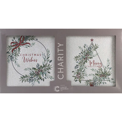 Cancer Research UK Charity Christmas Tree Cards: Pack of 12 image number 1
