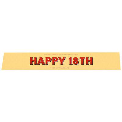 Toblerone Milk Chocolate 100g – Happy 18th image number 1