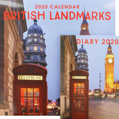 British Landmarks 2020 Calendar and Diary Set image number 1