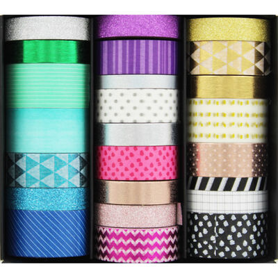 Assorted Washi Tape Box - 24 Rolls image number 2