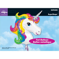 33 Inch Unicorn Super Shape Helium Balloon