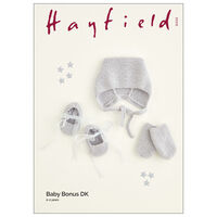 Hayfield Baby Bonus DK: Hat, Booties & Mittens Knitting Pattern 5422