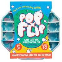 Pop 'N' Flip Bubble Popping Fidget Game: Assorted Tie-Dye Pink Octagon