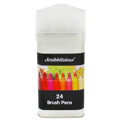 Brush Felt Pens - Set Of 24 image number 1