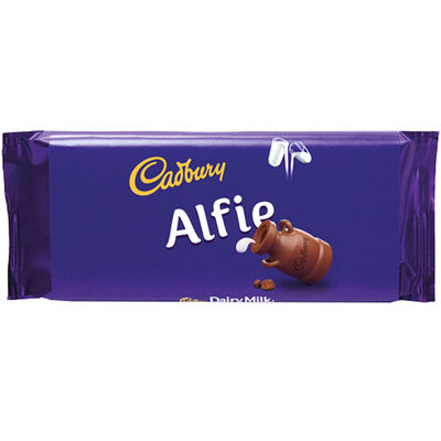 Cadbury Dairy Milk Chocolate Bar 110g - Alfie image number 1