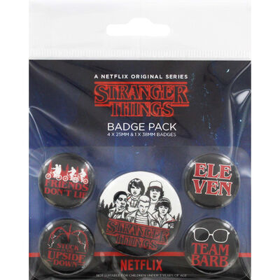 Stranger Things Character Badge Pack image number 1