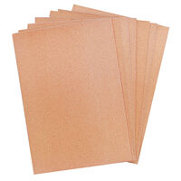 Crafters Companion Glitter Card 10 Sheet Pack - Rose Gold