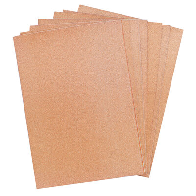 Crafters Companion Glitter Card 10 Sheet Pack - Rose Gold image number 2