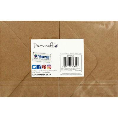 20 Brown Kraft Cards and Envelopes - 7cm x 10cm image number 4