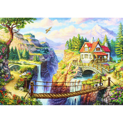 Cliff Top House 1000 Piece Jigsaw Puzzle image number 3