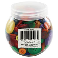 Assorted Jar of Bright Buttons