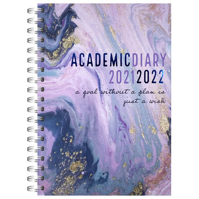 A5 Goal Without A Plan 2021-2022 Week to View Diary image number 1