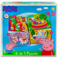 Peppa Pig 4-in-1 Piece Jigsaw Puzzle