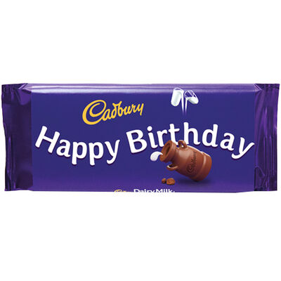 Cadbury Dairy Milk Chocolate Bar 110g - Happy Birthday image number 1