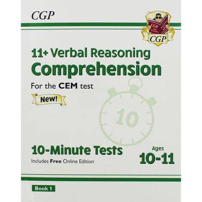 CGP 11+ Verbal Reasoning Comprehension: 10 Minute Tests image number 1