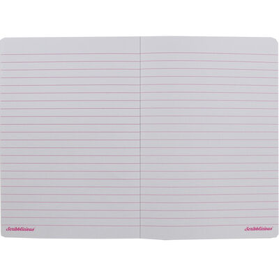 A5 Ombre Gold Pink Glitter Lined Notebook image number 2
