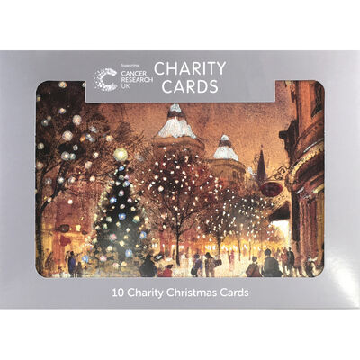 Cancer Research UK Charity Town Christmas Cards: Pack of 10 image number 1