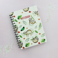 A5 Wiro Sloth Design Lined Notebook