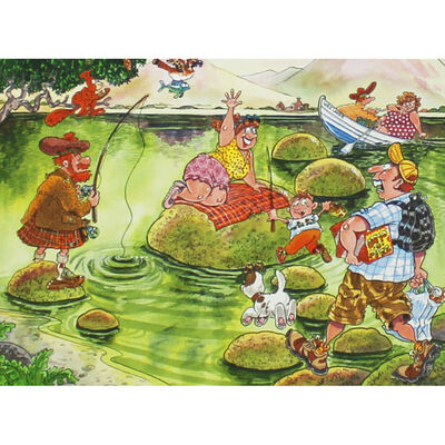 Wasgij Mystery 2 What a Loch of Trouble 150 Piece Jigsaw Puzzle image number 2