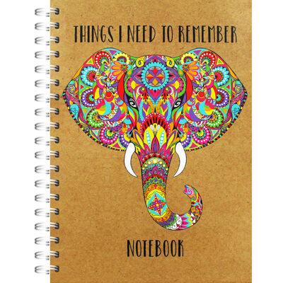 A5 Wiro Colourful Elephant Lined Notebook image number 1