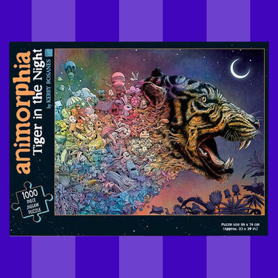 Animorphia Tiger in the Night 1000 Piece Jigsaw Puzzle image number 3