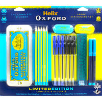 Helix Oxford Large Blue Stationery Set
