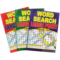 Super Large Print Wordsearch - Assorted