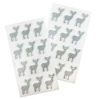Silver Reindeer Embellishments Pack of 24