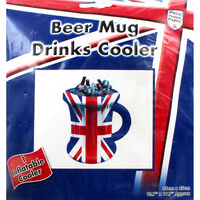 Union Jack Inflatable Beer Mug Ice Cooler