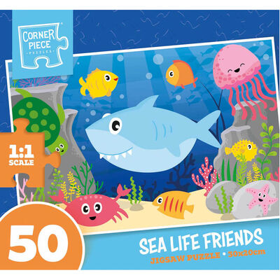 Sea Life Friends 50 Piece Jigsaw Puzzle image number 1