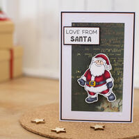 Gemini Stamp & Die Set: Wobbling Santa