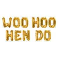 Gold Hen Do Foil 16 Inch Balloon