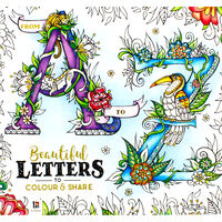 A-Z Beautiful Letters to Colour and Share