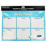 A3 Magnetic Wipe Clean Bee Design Weekly Planner