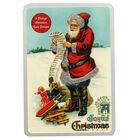 8 Vintage Christmas Cards in Tin - Santa List image number 1