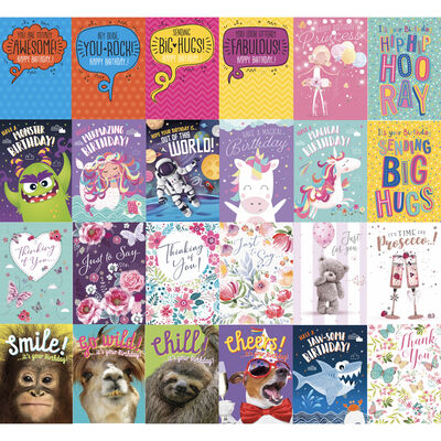 Complete Box of 576 Greetings Cards - 12x48 New Designs image number 3