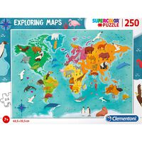 Exploring Maps: Animals 250 Piece Jigsaw Puzzle