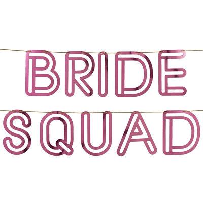 Pink Bride Squad Foil Bunting image number 2