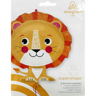 24 Inch Lion Super Shape Helium Balloon image number 2