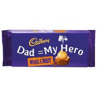 Cadbury Dairy Milk Whole Nut Chocolate Bar 120g - Dad = My Hero
