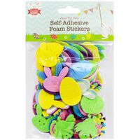 Easter Self-Adhesive Foam Stickers: Pack of 150